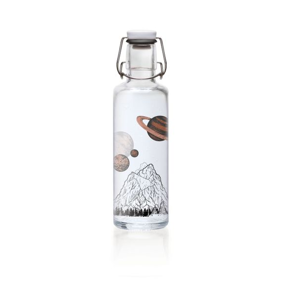 "soulbottle ""The sky is not the limit"" 0,6 Liter - Trinkflasche aus Glas - Bild 2"