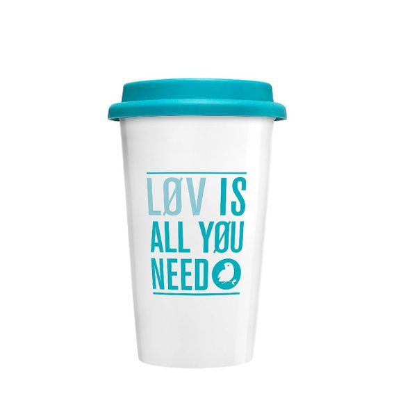"Doppelwandiger Coffee to-go Becher aus Keramik ""Løvely Travel Mug"" - Bild"