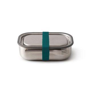 "Auslaufsichere Lunchbox ""Steel Lunch Box Large"" aus Edelstahl inkl. Gabel Farbe: Ocean"