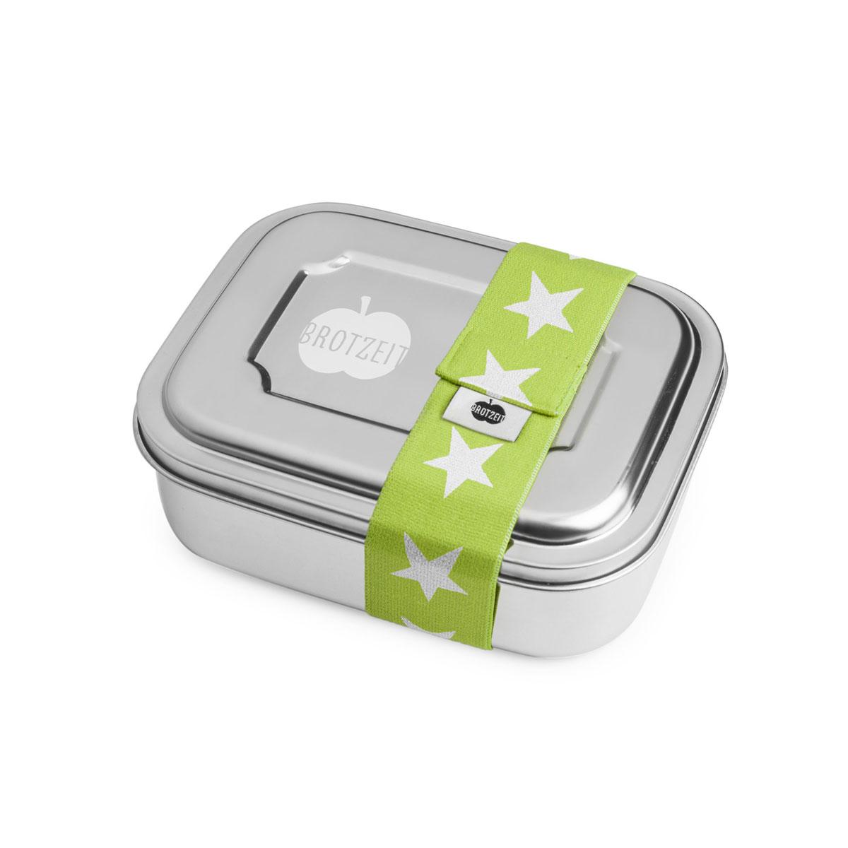 """Lunchbox """"ZWEIER"""" Brotdose mit Unterteilung aus Edelstahl - 100% BPA frei, fest verschliessbar von Brotzeit"""