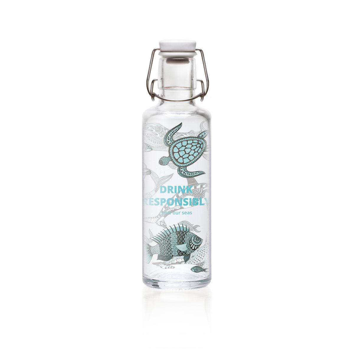 """soulbottle """"drink responsibly"""" 0,6 Liter - Trinkflasche aus Glas von soulbottles"""