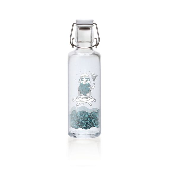 """soulbottle """"Soulsailor"""" 0,6 Liter - Trinkflasche aus Glas - Bild 1"""