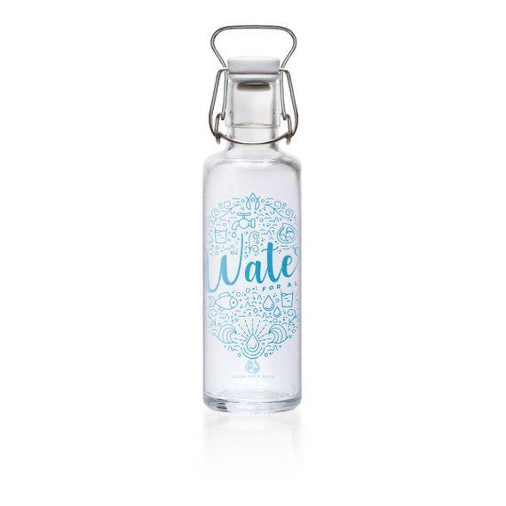"soulbottle ""Viva con agua, viva con soul"" 0,6 Liter - Trinkflasche aus Glas - Bild 2"