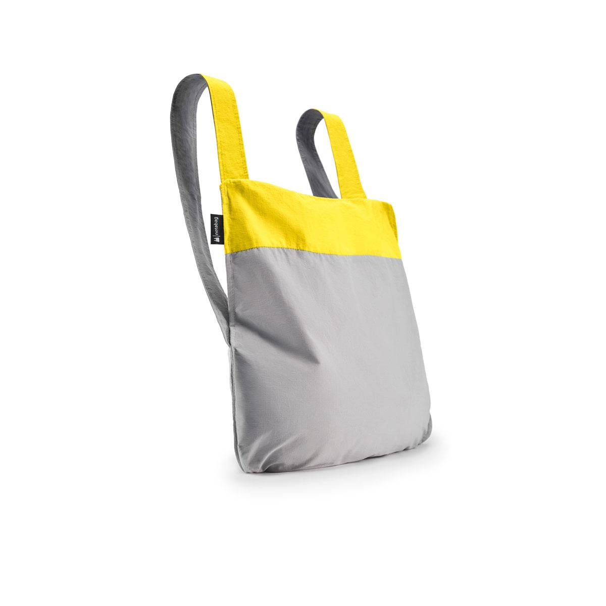 notabag Original 2in1 Tasche und Rucksack - Yellow/Grey von notabag