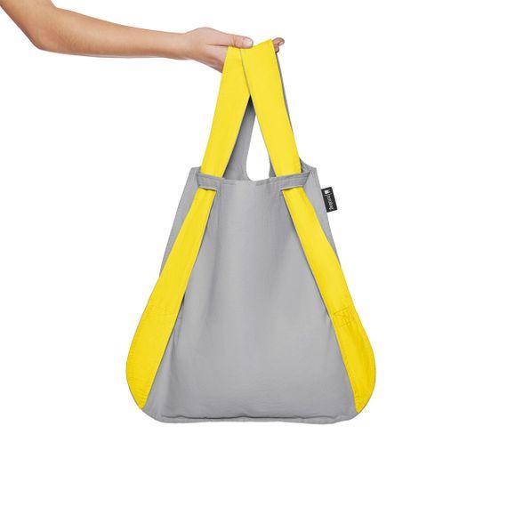 notabag Original 2in1 Tasche und Rucksack - Yellow/Grey - Bild 4