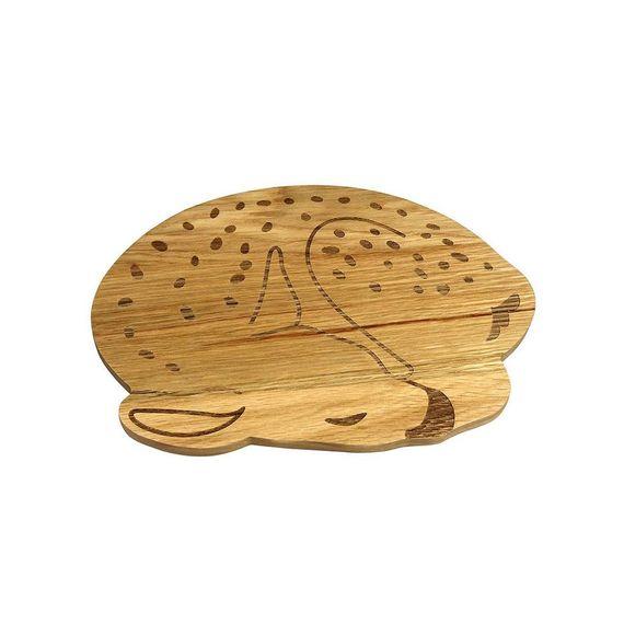 "Frühstücksbrettchen ""Wooden Plate Deer"" aus Eichenholz - Bild 1"