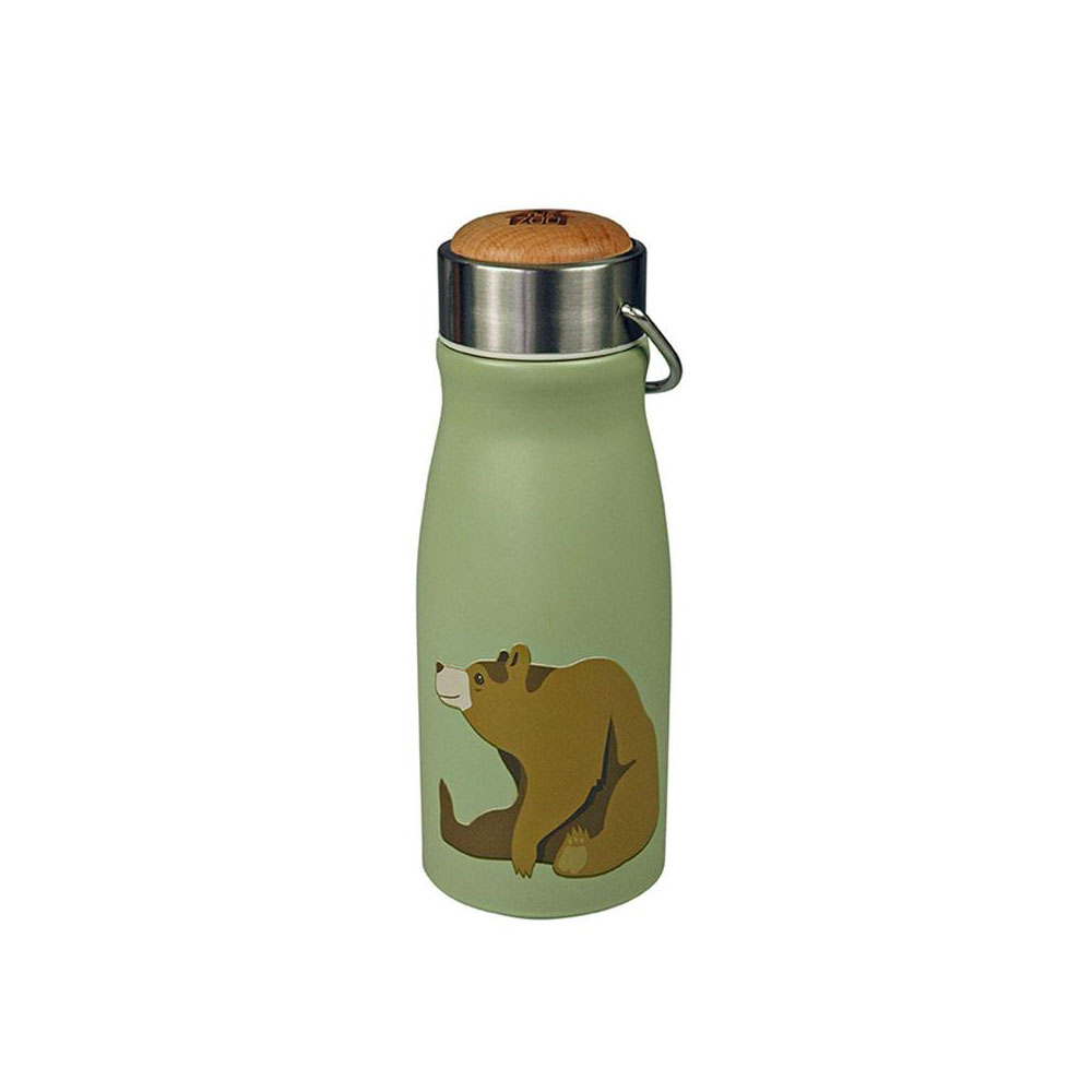 "Thermosflasche ""FLASK Brown Bear"" aus Edelstahl, 300ML von The Zoo"