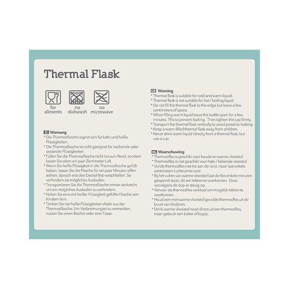 """Thermosflasche """"FLASK Brown Bear"""" aus Edelstahl, 300ML - Bild 4"""