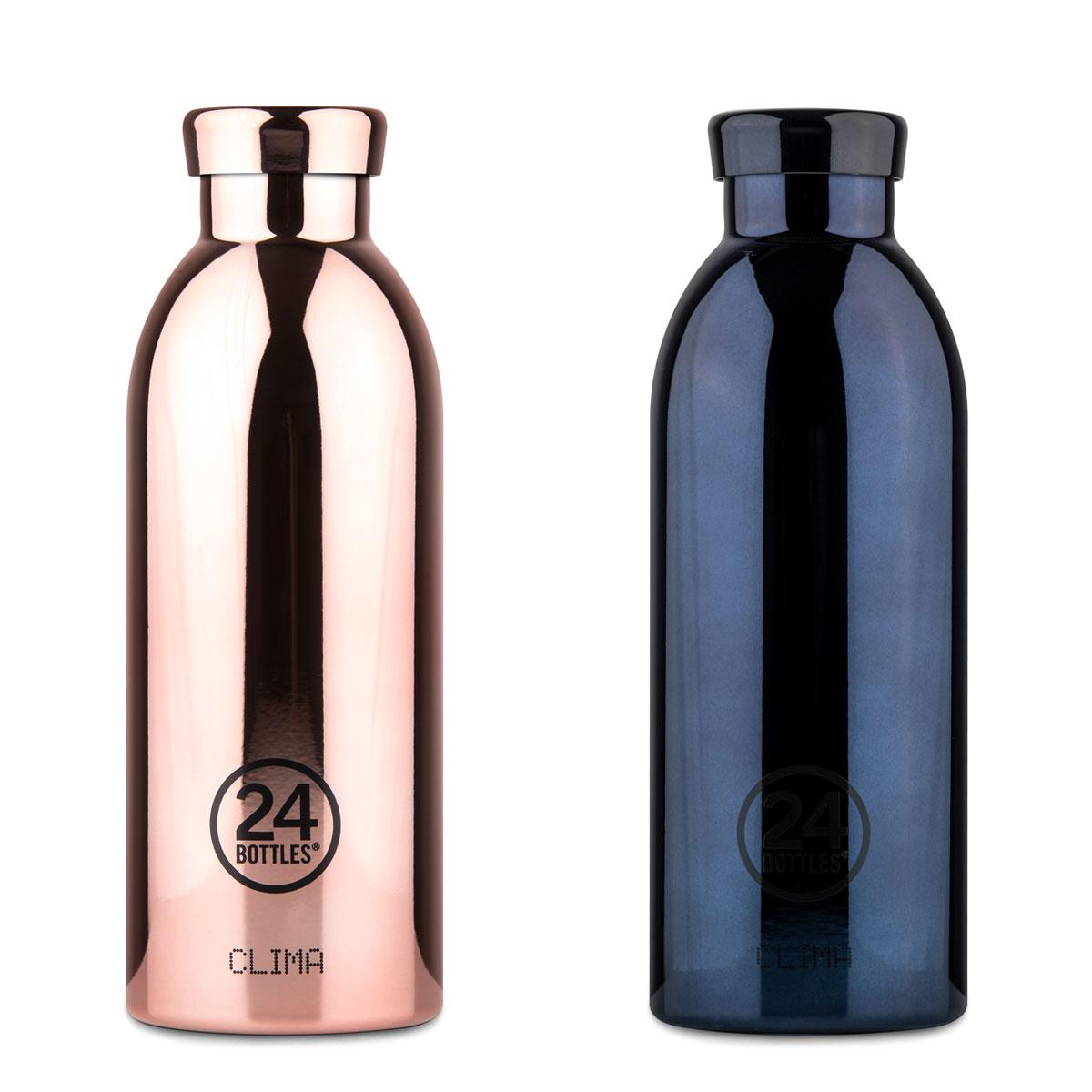 """Isolierte Trinkflasche """"Clima Bottle Grand Collection"""" aus Edelstahl 500 ML von 24Bottles"""