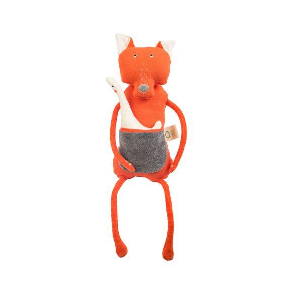 """Kuscheltier """"Fox"""" mit kleinem Greiftier aus Bio-Baumwolle - Bild 2"""