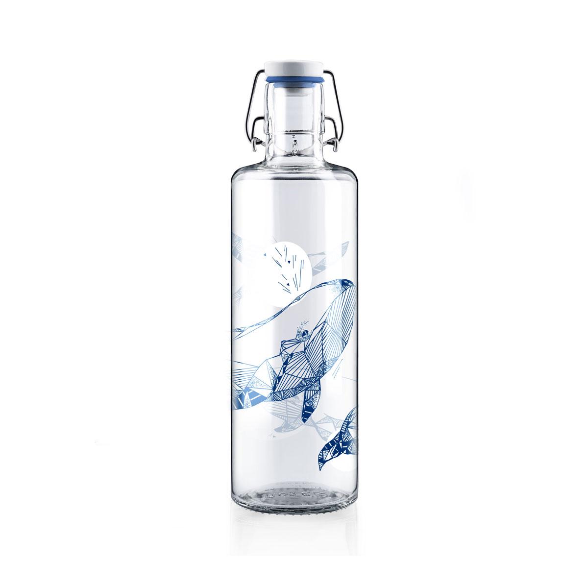 soulbottle souldiver 1 liter trinkflasche aus glas von soulbottles. Black Bedroom Furniture Sets. Home Design Ideas