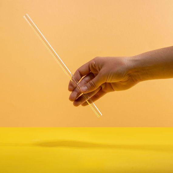 soulstraw gerade - Strohhalm aus Glas - Bild