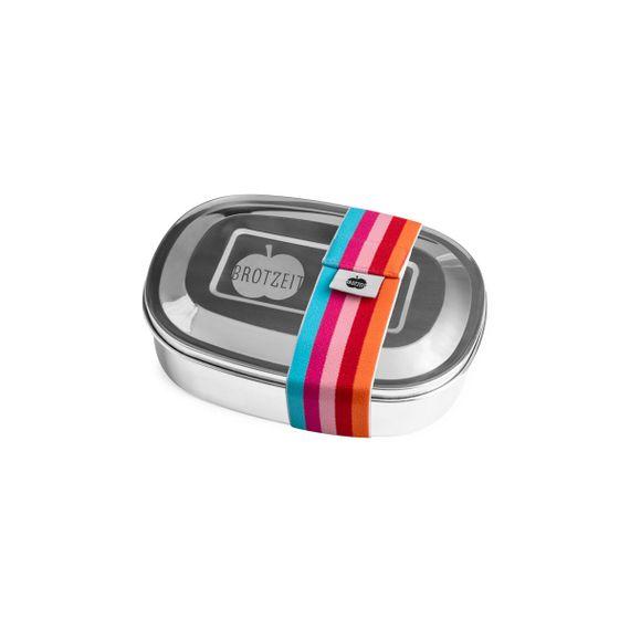 Lunchbox MAGIC mit Gummiband und Unterteilung aus Edelstahl - 100% BPA frei, fest verschliessbar - Bild 15