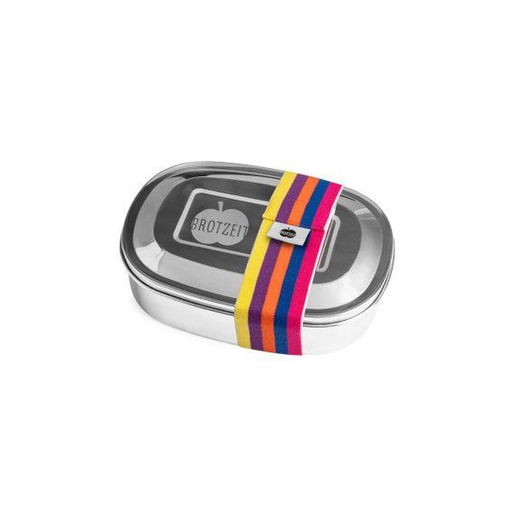 Lunchbox MAGIC mit Gummiband und Unterteilung aus Edelstahl - 100% BPA frei, fest verschliessbar - Bild 16