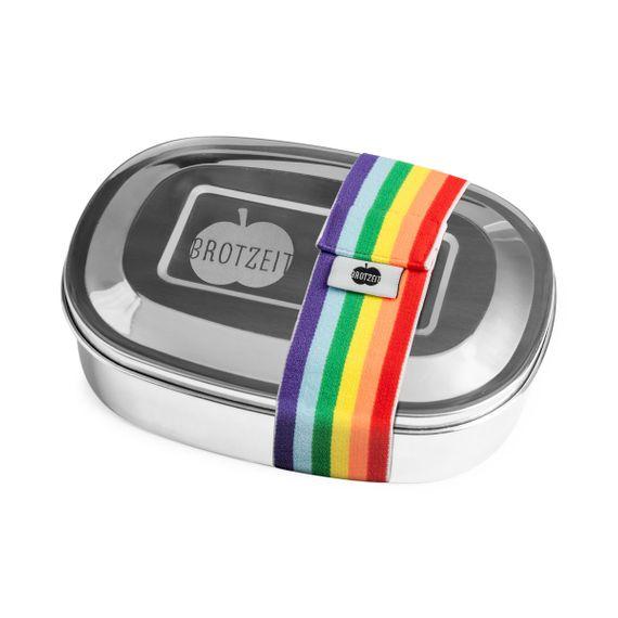 Lunchbox MAGIC mit Gummiband und Unterteilung aus Edelstahl - 100% BPA frei, fest verschliessbar - Bild 18