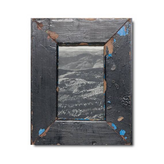 Unikat Vinatge-Bilderrahmen aus recyceltem Holz -10x15 - Bild 1