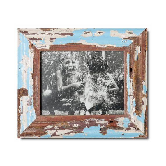Unikat Vinatge-Bilderrahmen aus recyceltem Holz -15 x 20 - Bild 1