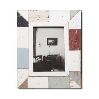 Unikat Vinatge-Bilderrahmen aus recyceltem Holz -A5 Mosaik