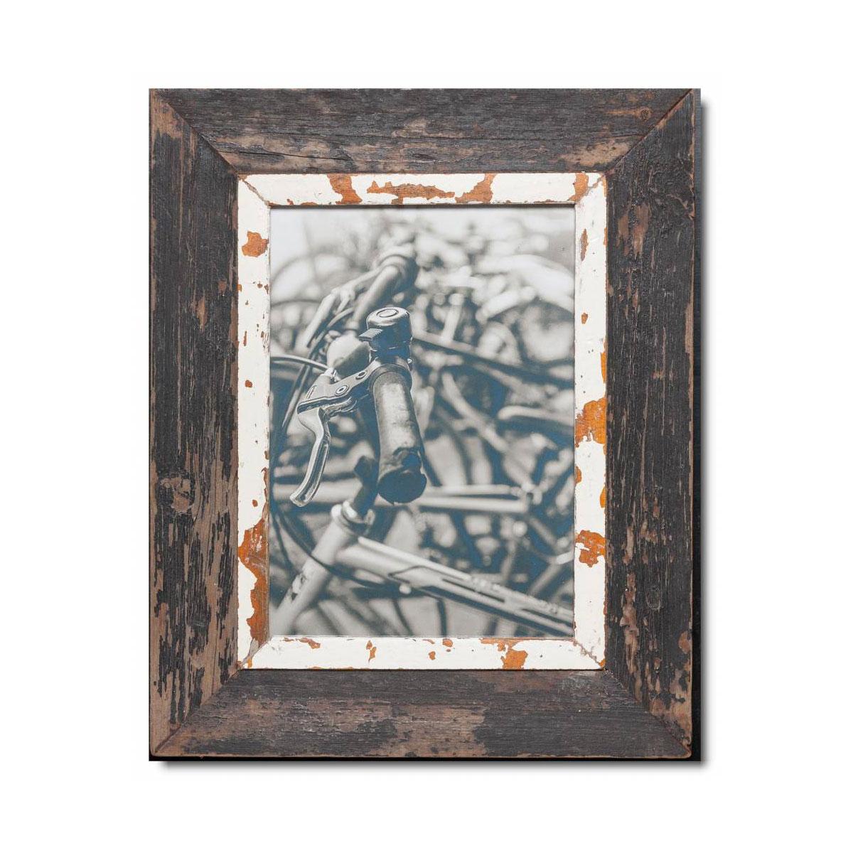 Unikat Vinatge-Bilderrahmen aus recyceltem Holz - A4 von LUNA design company