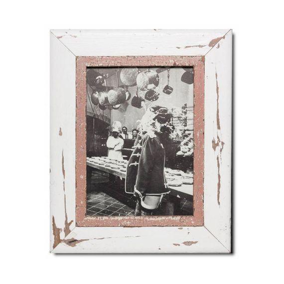 Unikat Vinatge-Bilderrahmen aus recyceltem Holz - A4 - Bild