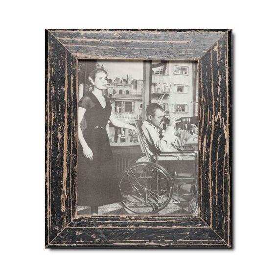 Unikat Vinatge-Bilderrahmen aus recyceltem Holz -20 x 25 cm - Bild
