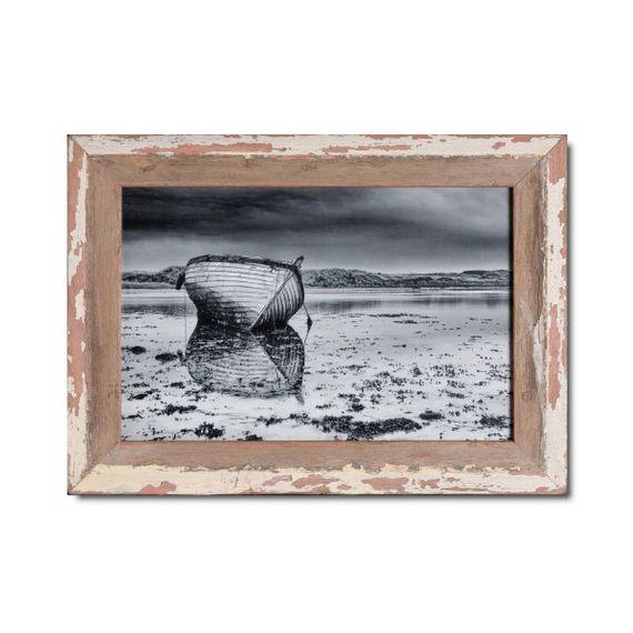 Unikat Vinatge-Bilderrahmen aus recyceltem Holz -25 x 38 cm - Bild