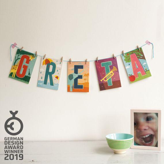 """""""I"""" Buchstaben-Postkarte - gedruckt auf Recyclingpapier  - Bild 2"""