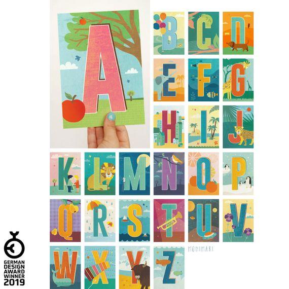 """""""K"""" Buchstaben-Postkarte - gedruckt auf Recyclingpapier  - Bild 6"""