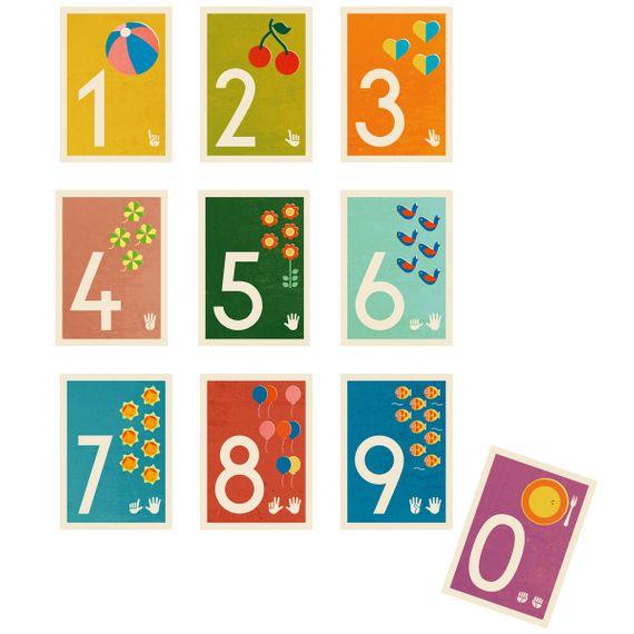 """3"" Zahlen-Postkarte - gedruckt auf Recyclingpapier  - Bild 2"