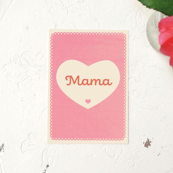 "Postkarte ""Mama"" - gedruckt auf Recyclingpapier  - Bild 1"