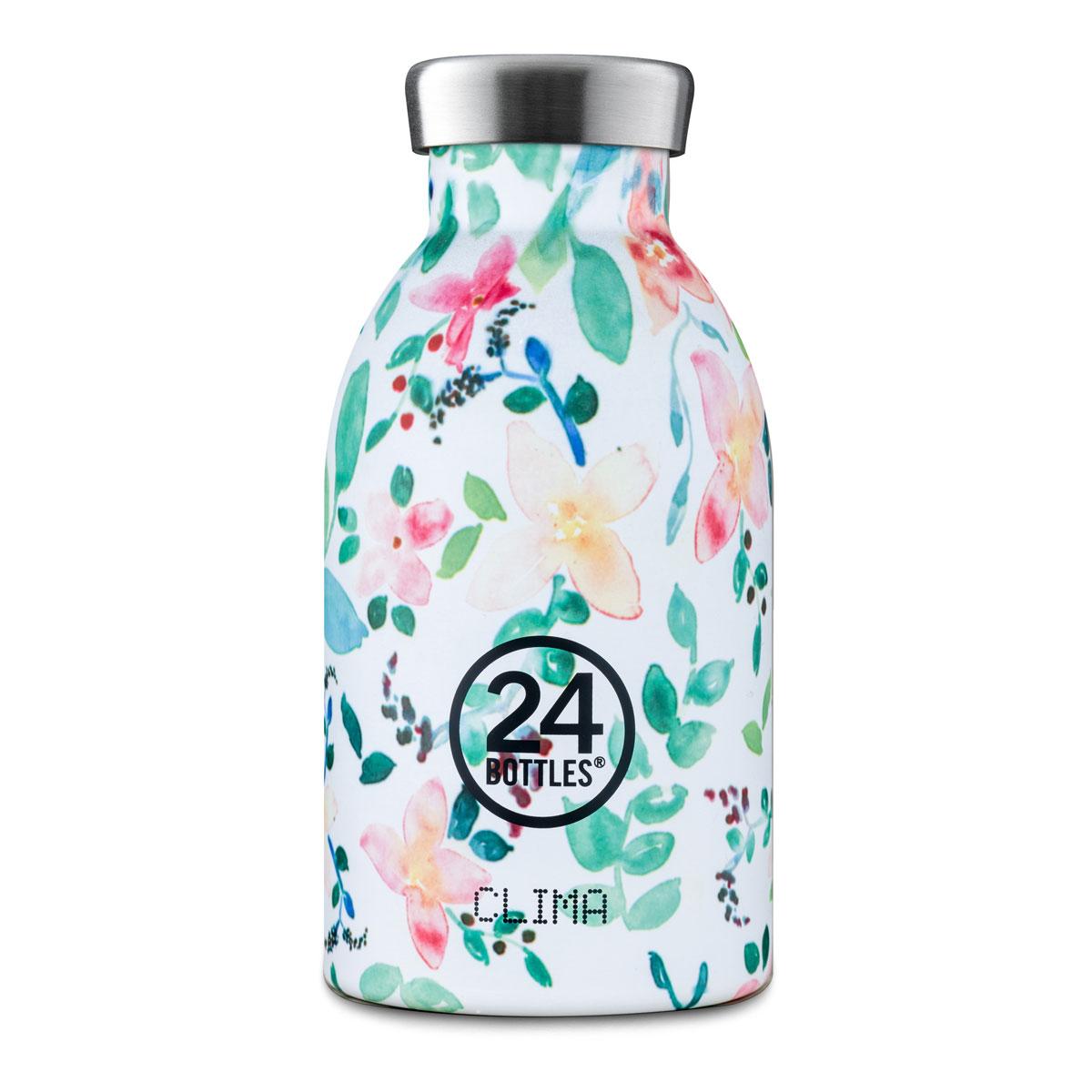 """Isolierte Trinkflasche """"Clima Bottle"""" aus Edelstahl 330 ML von 24Bottles"""