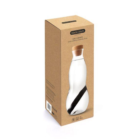 """Wasserkaraffe aus Glas """"Eau Carafe"""" mit Aktivkohlefilter - 1 Liter - Bild 2"""