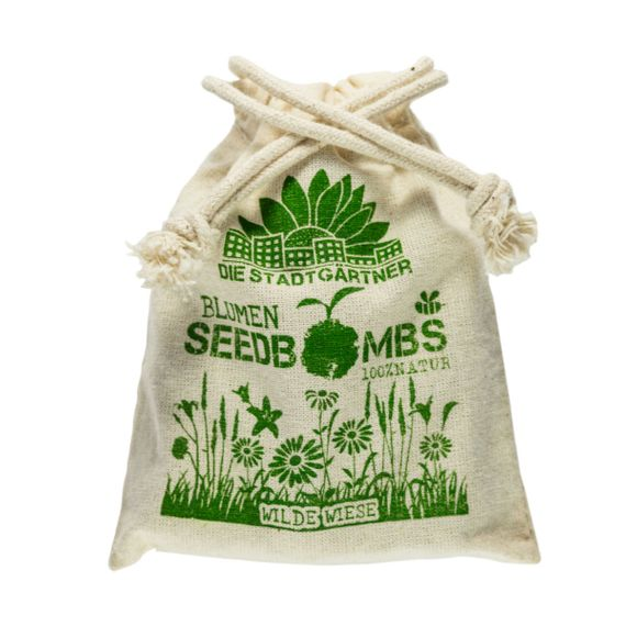 "8 Seedbombs ""Wilde Wiese"" im Mini-Jutebeutel - Bild 6"