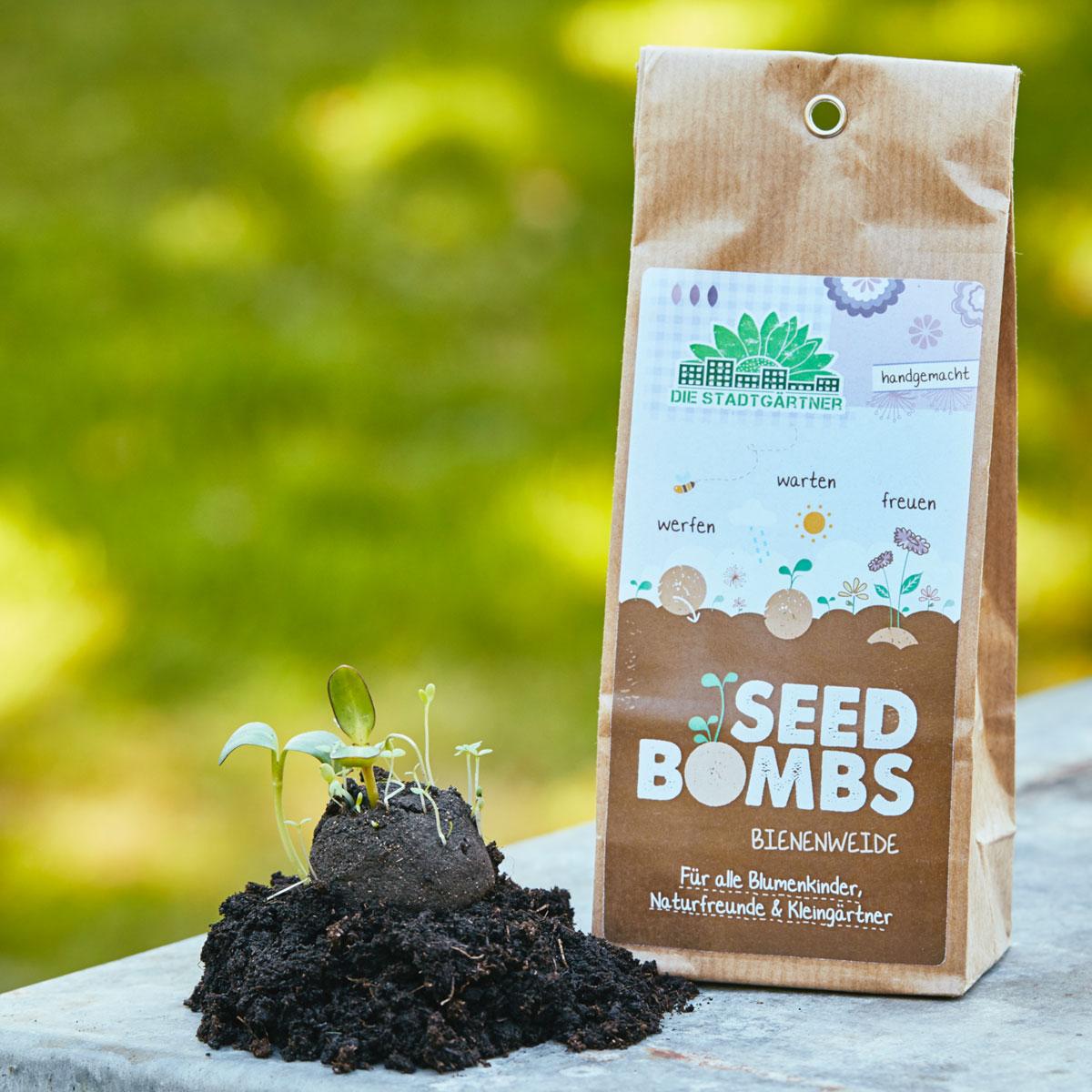 """5 Seedbombs in der Papiertüte """"Bienenweide"""" von Die Stadtgärtner"""