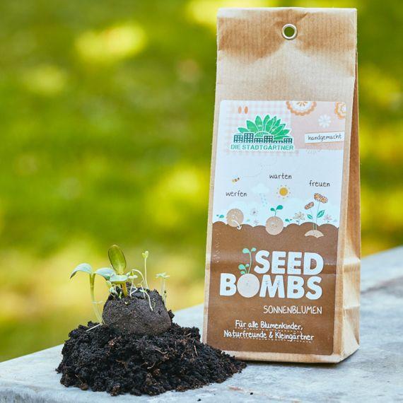 """5 Seedbombs in der Papiertüte """"Sonnenblumen"""" - Bild 1"""