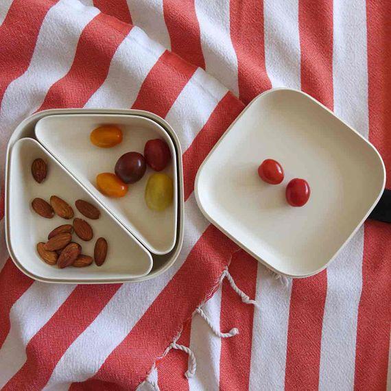 """Quadratische Lunchbox """"Square Bento Lunch Box"""" mit Silikonband aus Bambusfasern - Bild 19"""