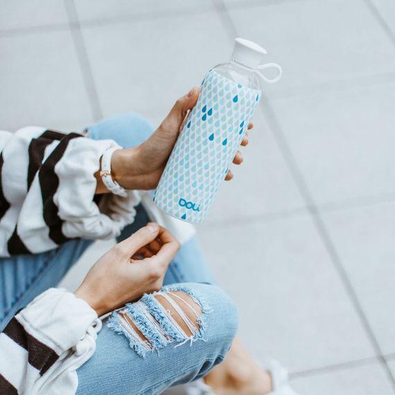 """Trinkflasche aus Glas """"Drops"""" mit Silikonhülle - 550ml - Bild 6"""