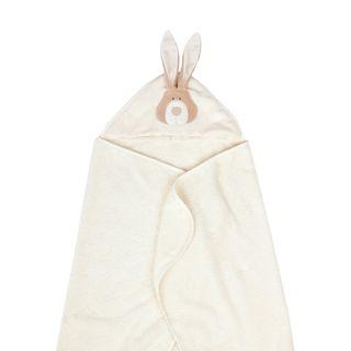 """Großes Badetuch mit Kapuze """"Bunny"""" - aus Bio-Baumwolle"""