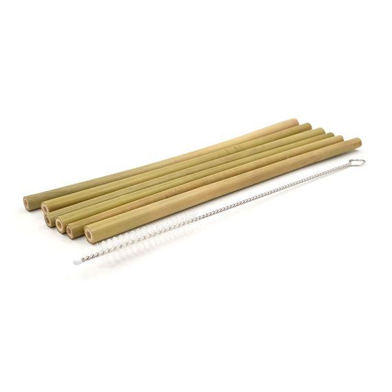 "Strohhalm ""Bam Bam"" aus Bambus - 6er Pack inkl. Reinigungsbürste - Bild 2"