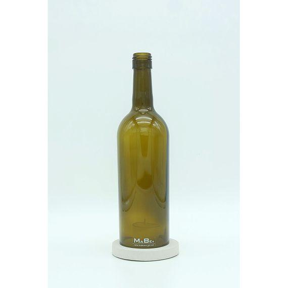 flaschenWINDLICHT aus recycelten Weinflaschen mit Untersetzer aus Beton - Bild 1
