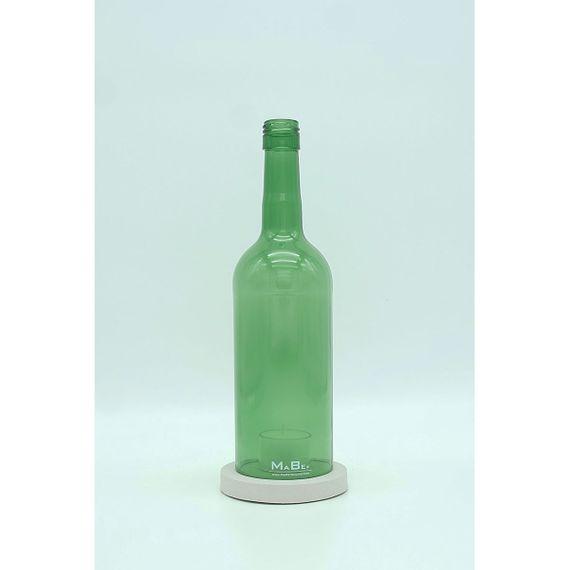 flaschenWINDLICHT aus recycelten Weinflaschen mit Untersetzer aus Beton - Bild 2