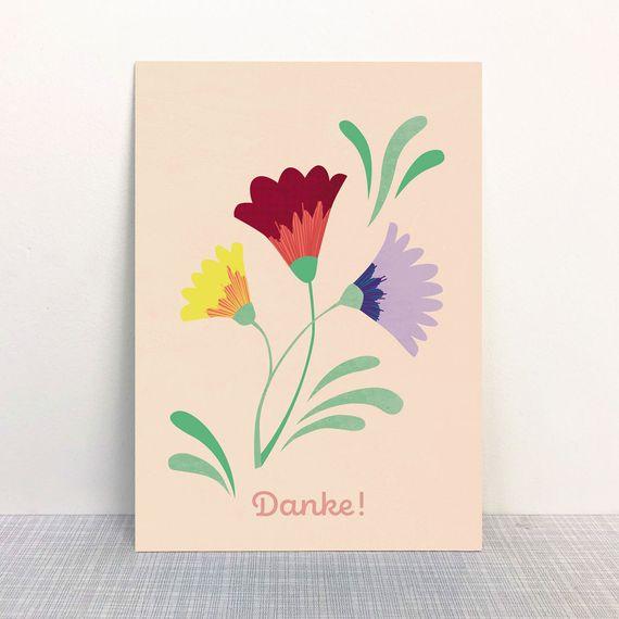 "Postkarte ""Danke"" - gedruckt auf Recyclingpapier  - Bild 1"