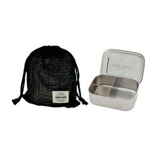 Lunchbox Bento Medium mit 3 Fächern aus Edelstahl 1 Liter