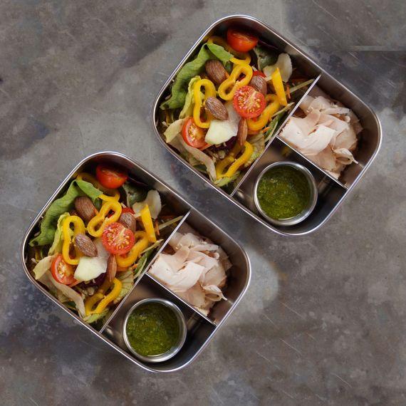 Lunchbox Bento Medium+ mit 3 Fächern aus Edelstahl 1,1 Liter - Bild 4