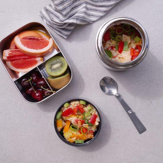 Thermo Lunchbox Large aus Edelstahl mit Löffel im Deckel 800ml - Bild 7