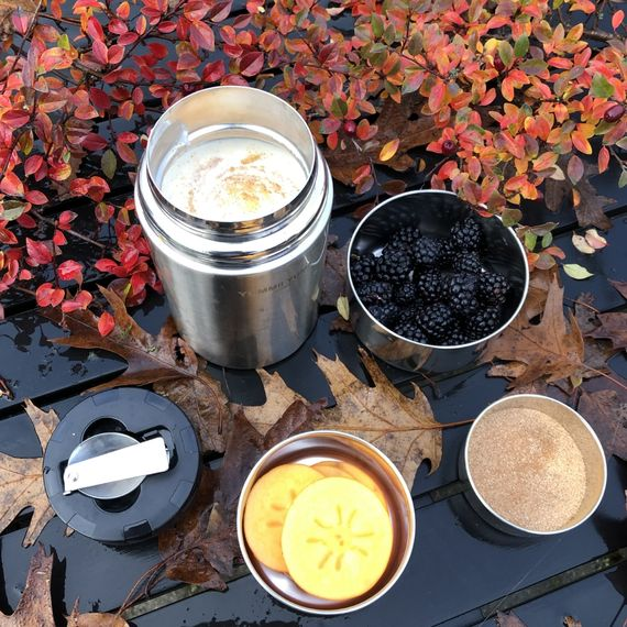 Thermo Lunchbox Large aus Edelstahl mit Löffel im Deckel 800ml - Bild 8