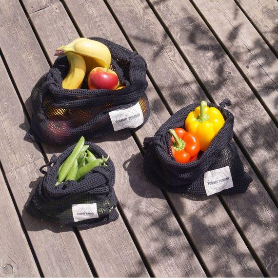 Gemüsenetze 3er-Pack, GOTS-Zertifiziert - Bild 2