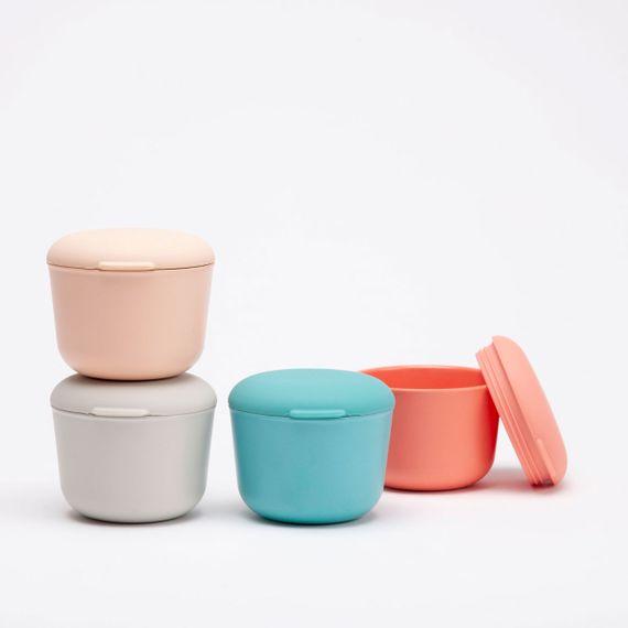 """Runde Lunchbox """"Store & Go"""" 225ml aus FSC-zertifizierten-Bambusfasern mit Silikondeckel - Bild 1"""