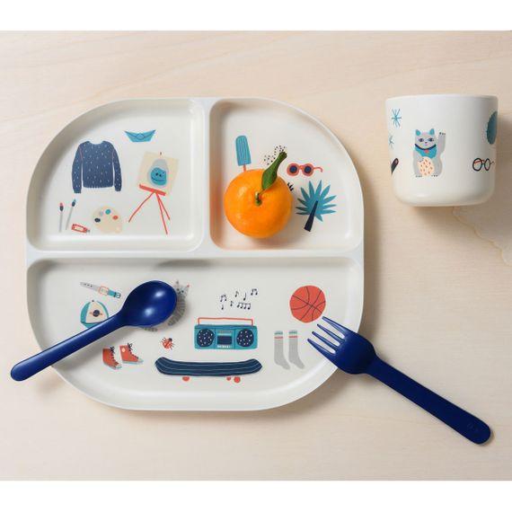 Bambino Kids Dinner Set - Teller, Tasse, Gabel und Löffel - Bild 2