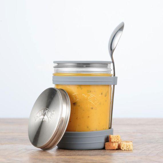 Suppenglas-Set mit Löffel 350 ml - Bild 3
